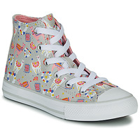 Παπούτσια Κορίτσι Ψηλά Sneakers Converse CHUCK TAYLOR ALL STAR LLAMA HI Grey / Multicolore