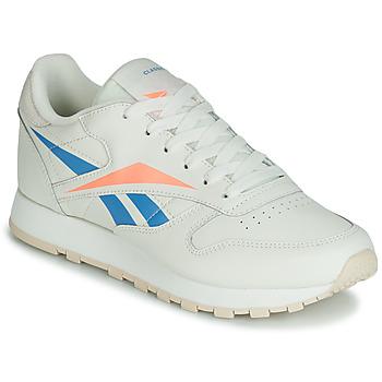 Παπούτσια Γυναίκα Χαμηλά Sneakers Reebok Classic CL LTHR Beige / Μπλέ / Orange