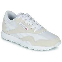 Παπούτσια Παιδί Χαμηλά Sneakers Reebok Classic CL NYLON J Άσπρο / Beige