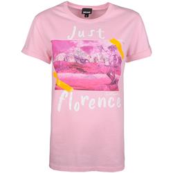 Υφασμάτινα Γυναίκα T-shirt με κοντά μανίκια Roberto Cavalli  Ροζ