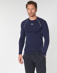 Υφασμάτινα Άνδρας Μπλουζάκια με μακριά μανίκια Under Armour HEATGEAR ARMOUR LS COMPRESSION Marine