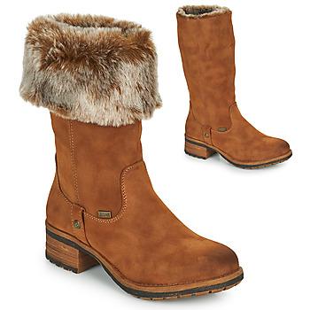 Παπούτσια Γυναίκα Μπότες για την πόλη Rieker 96854-26 Camel