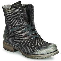 Παπούτσια Γυναίκα Μπότες Papucei MAURA BLACK SILVER Black
