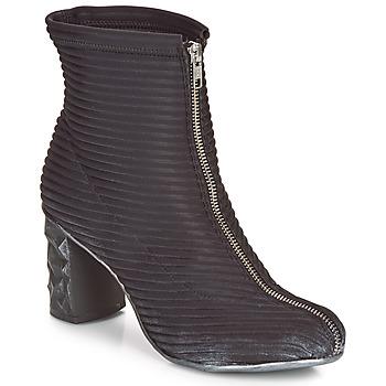 Παπούτσια Γυναίκα Μποτίνια Papucei TEO BLACK Black