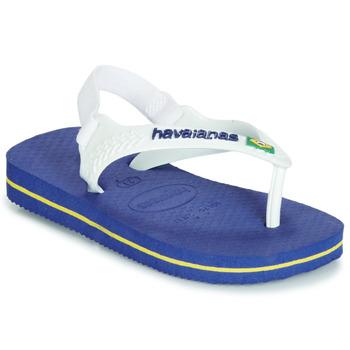 Παπούτσια Παιδί Σανδάλια / Πέδιλα Havaianas BABY BRASIL LOGO Marine