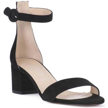 Παπούτσια Γυναίκα Σανδάλια / Πέδιλα Priv Lab CAMOSCIO NERO Nero