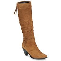 Παπούτσια Γυναίκα Μπότες για την πόλη Regard RAKAFOU V2 CRTE VEL SILKY Camel
