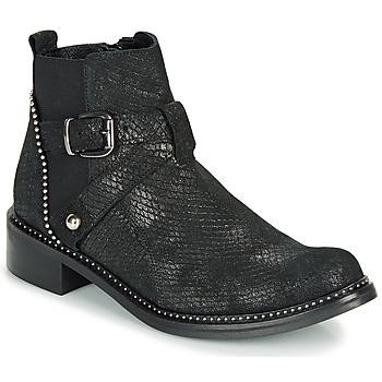 Παπούτσια Γυναίκα Μπότες Regard ROALA V1 CROSTE SERPENTE PRETO Black