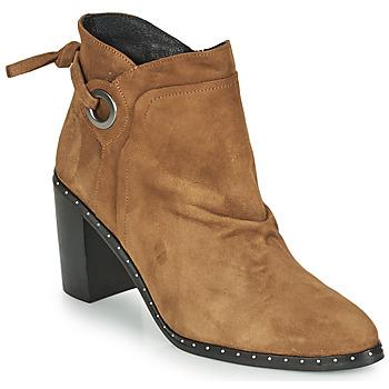 Παπούτσια Γυναίκα Μποτίνια Philippe Morvan BATTLES V3 CHEV VEL Camel