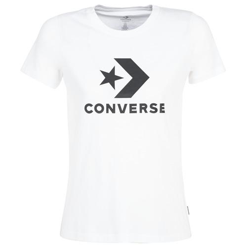 Υφασμάτινα Γυναίκα T-shirt με κοντά μανίκια Converse STAR CHEVRON Άσπρο
