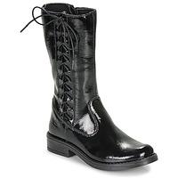 Παπούτσια Κορίτσι Μπότες για την πόλη Citrouille et Compagnie LAMINOTE Black