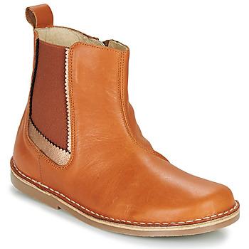 Παπούτσια Κορίτσι Μπότες Citrouille et Compagnie LOUTE Camel
