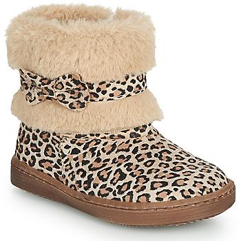 Παπούτσια Κορίτσι Μπότες Citrouille et Compagnie LILIFA Camel / Leopard