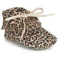 Παπούτσια Κορίτσι Παντόφλες Citrouille et Compagnie LILIFI Camel / Leopard