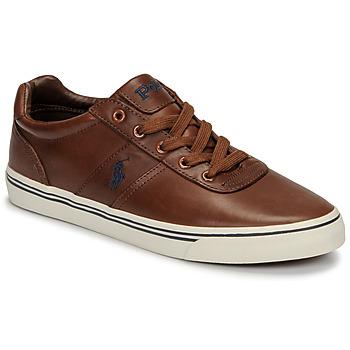 Παπούτσια Άνδρας Χαμηλά Sneakers Polo Ralph Lauren HANFORD Cognac