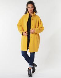 Υφασμάτινα Γυναίκα Παλτό Benetton STORI Yellow
