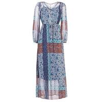 Υφασμάτινα Γυναίκα Μακριά Φορέματα Cream SAMA Μπλέ / Brown