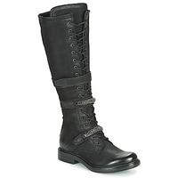 Παπούτσια Γυναίκα Μπότες για την πόλη Mjus CAFE HIGH Black