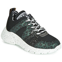 Παπούτσια Γυναίκα Χαμηλά Sneakers Meline LETTE Black / Green