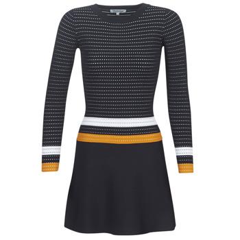 Υφασμάτινα Γυναίκα Κοντά Φορέματα Morgan ROXFA Marine / Άσπρο / Yellow