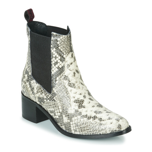 Παπούτσια Γυναίκα Μποτίνια Gioseppo MIKKELI Black / Άσπρο