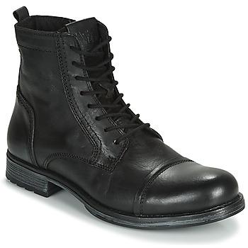 Παπούτσια Άνδρας Μπότες Jack & Jones JFW RUSSEL LEATHER Black