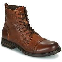 Παπούτσια Άνδρας Μπότες Jack & Jones JFW RUSSEL LEATHER Cognac