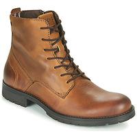 Παπούτσια Άνδρας Μπότες Jack & Jones JFW ORCA LEATHER Cognac