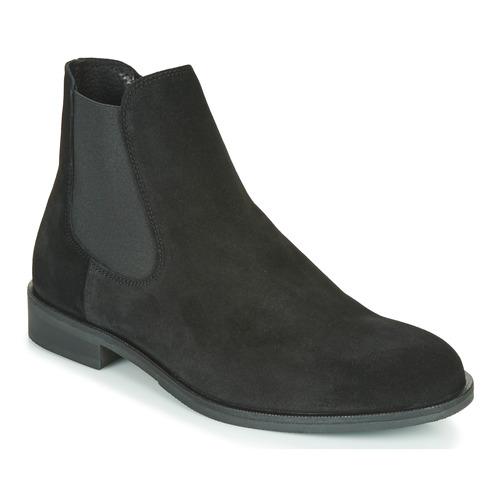 Παπούτσια Άνδρας Μπότες Selected LOUIS SUEDE CHELSEA Black