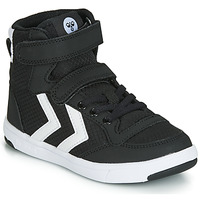 Παπούτσια Παιδί Basketball Hummel STADIL RIPSTOP HIGH JR Black / Άσπρο