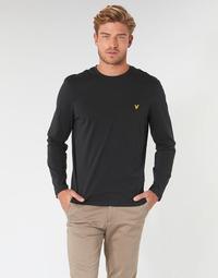 Υφασμάτινα Άνδρας Μπλουζάκια με μακριά μανίκια Lyle & Scott TS512V-574 Black