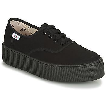 Παπούτσια Γυναίκα Χαμηλά Sneakers Victoria 1915 DOBLE LONA PISO NEG Black