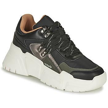Παπούτσια Γυναίκα Χαμηλά Sneakers Victoria TOTEM NYLON Black