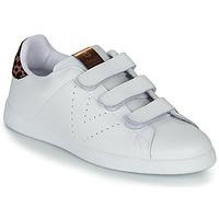 Παπούτσια Γυναίκα Χαμηλά Sneakers Victoria TENIS VELCRO PIEL Άσπρο