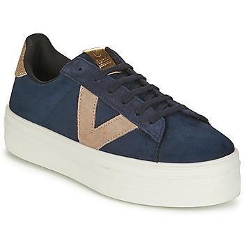 Παπούτσια Γυναίκα Χαμηλά Sneakers Victoria BARCELONA DEPORTIVO Marine / Beige