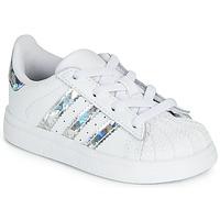 Παπούτσια Κορίτσι Χαμηλά Sneakers adidas Originals SUPERSTAR EL I Άσπρο / Silver