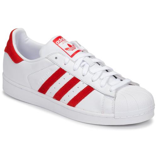 Παπούτσια Χαμηλά Sneakers adidas Originals SUPERSTAR Άσπρο / Red