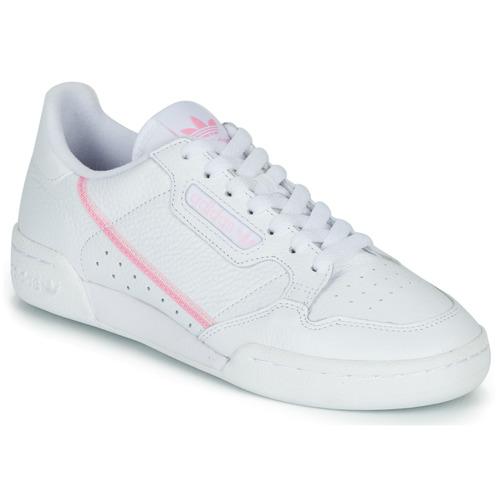 Παπούτσια Γυναίκα Χαμηλά Sneakers adidas Originals CONTINENTAL 80 W Άσπρο / Ροζ