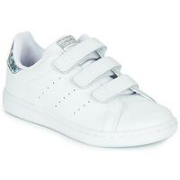 Παπούτσια Κορίτσι Χαμηλά Sneakers adidas Originals STAN SMITH CF C Άσπρο / Argenté