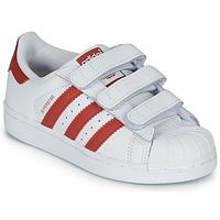 Παπούτσια Παιδί Χαμηλά Sneakers adidas Originals SUPERSTAR CF C Άσπρο / Red