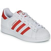 Παπούτσια Παιδί Χαμηλά Sneakers adidas Originals SUPERSTAR J Άσπρο / Red