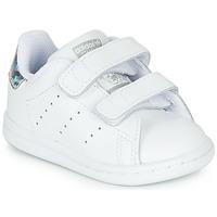 Παπούτσια Κορίτσι Χαμηλά Sneakers adidas Originals STAN SMITH CF I Άσπρο / Argenté
