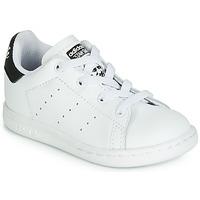 Παπούτσια Παιδί Χαμηλά Sneakers adidas Originals STAN SMITH EL I Άσπρο / Black