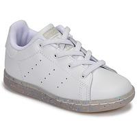 Παπούτσια Κορίτσι Χαμηλά Sneakers adidas Originals STAN SMITH EL I Άσπρο / Glitter