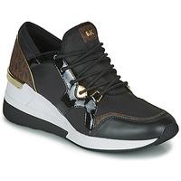 Παπούτσια Γυναίκα Χαμηλά Sneakers MICHAEL Michael Kors LIV TRAINER Black / Brown