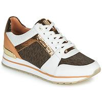 Παπούτσια Γυναίκα Χαμηλά Sneakers MICHAEL Michael Kors BILLIE TRAINER Άσπρο / Brown