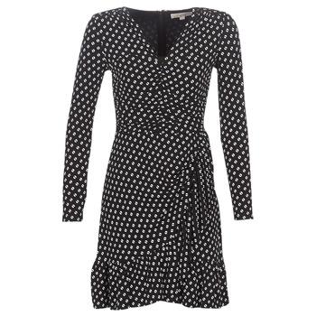 Υφασμάτινα Γυναίκα Κοντά Φορέματα MICHAEL Michael Kors ELV DOT SHRD LS DRS Black