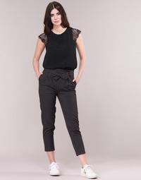 Υφασμάτινα Γυναίκα Παντελόνια Πεντάτσεπα Betty London LAALIA Black / Άσπρο