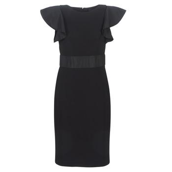 Υφασμάτινα Γυναίκα Κοντά Φορέματα Lauren Ralph Lauren JERSEY SLEEVELESS COCKTAIL DRESS Black
