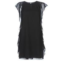 Υφασμάτινα Γυναίκα Κοντά Φορέματα Lauren Ralph Lauren RUFFLED GEORGETTE DRESS Black